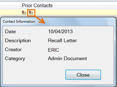 RecallManager-PrintLetterOnePatient-PriorContact